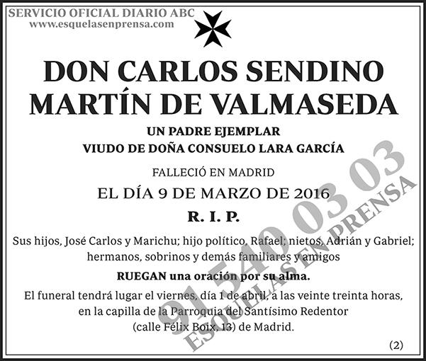 Carlos Sendino Martín de Valmaseda